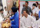 भूख हड़ताल के दौरान कांग्रेसी नेताओं ने भर पेट खाए छोले – भटूरे, फोटो हुआ वायरल