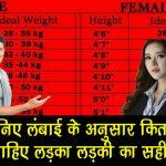 मनुष्य का सही वजन लंबाई के अनुसार कितना होना चाहिए, जानिए यहां